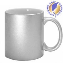Кружка керамическая для сублимации, цвет - серебро