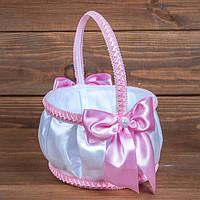 Корзинка для лепестков с розовыми бантами (арт. BP-103)