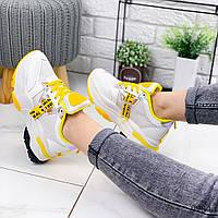 Кроссовки женские Klara белый + желтый