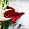 Жіночий шкіряний гаманець ST leather BC410 red червоний лаковий УЦІНКА, фото 8