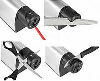 Электрическая точилка 220V, Электрическая ножеточка, Прибор для заточки ножей и ножниц, Ножеточка от сети