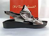 Стильные кожаные босоножки металик Terra Grande, фото 2