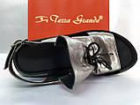 Стильные кожаные босоножки металик Terra Grande, фото 5