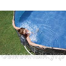 Овальный каркасный бассейн  Bestway. Размер: 610х366х122 см. Вес: 120 кг. Насос-фильтр. Оцинкованные трубы, фото 3