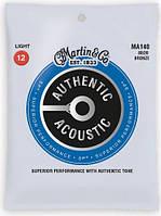 MARTIN MA140 Authentic Acoustic SP 80/20 Bronze Light (12-54) Струны для акустической гитары 6шт