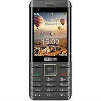 Кнопочный телефон с большим экраном, блютузом и фонариком на 2 sim Maxcom MM236 Black-Gold