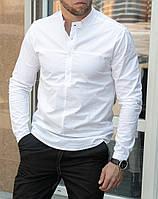 Рубашка мужская с коротким воротником белая / ТОП качества, фото 1