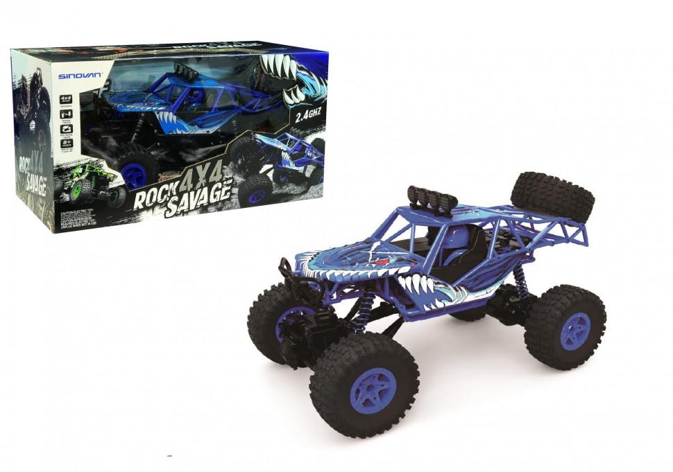Радиоуправляемая игрушка Sinovan Джип синий на пульте управления