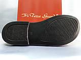 Стильные женские кожаные шлёпанцы пудра Terra Grande, фото 8
