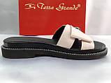 Стильные женские кожаные сабо-шлёпанцы Terra Grande, фото 2