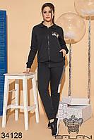 Женский спортивный костюм черный 48-50,52-54, фото 1