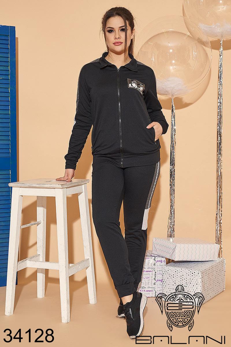 Женский спортивный костюм черный 48-50,52-54