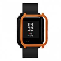 Накладка бампер для часов Xiaomi Amazfit Bip Оранжевая (1010507), фото 1