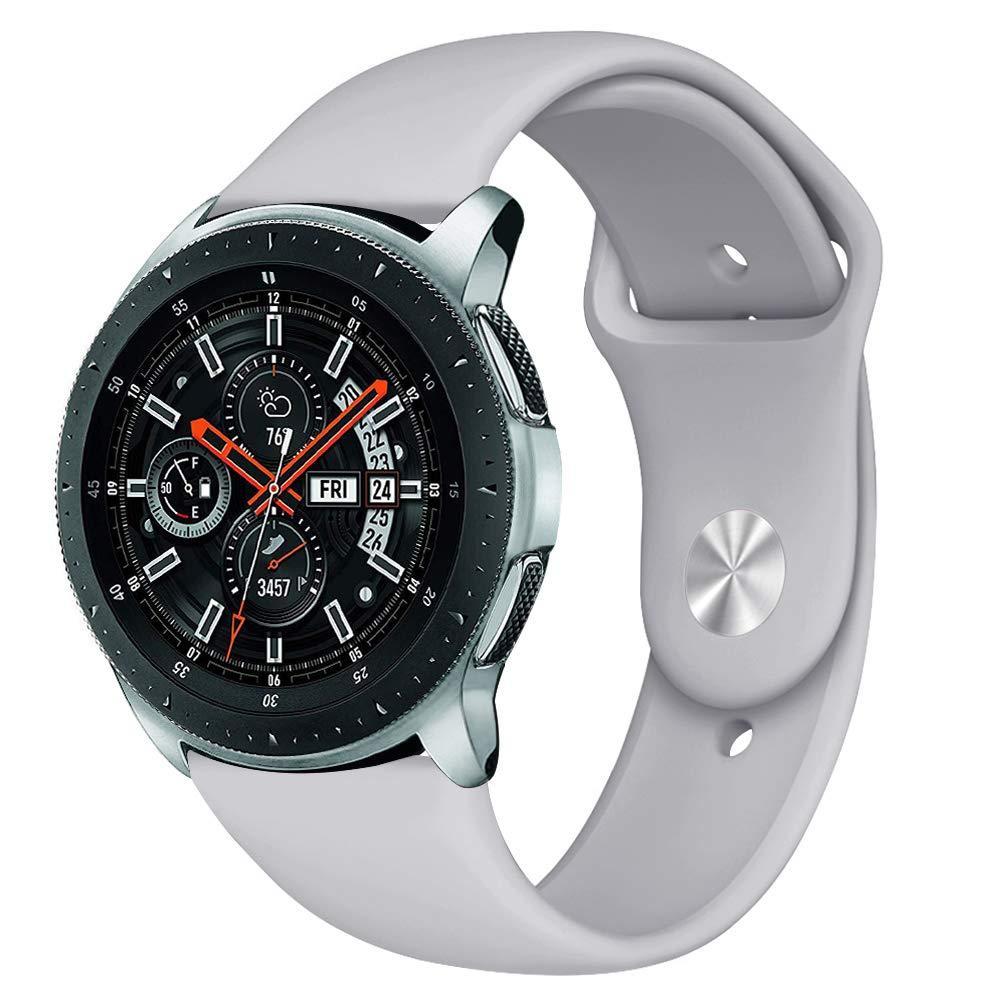 Ремешок BeWatch силиконовый для Samsung Galaxy Watch 46 мм Серый (1020304)