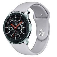 Ремешок BeWatch силиконовый для Samsung Galaxy Watch 46 мм Серый (1020304), фото 1
