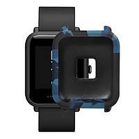 Силиконовый чехол BeWatch для Xiaomi Amazfit BIP Камо Синий (1010889), фото 1