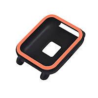 Силиконовый чехол BeWatch для Xiaomi Amazfit BIP Черно-оранжевый (1012817), фото 1