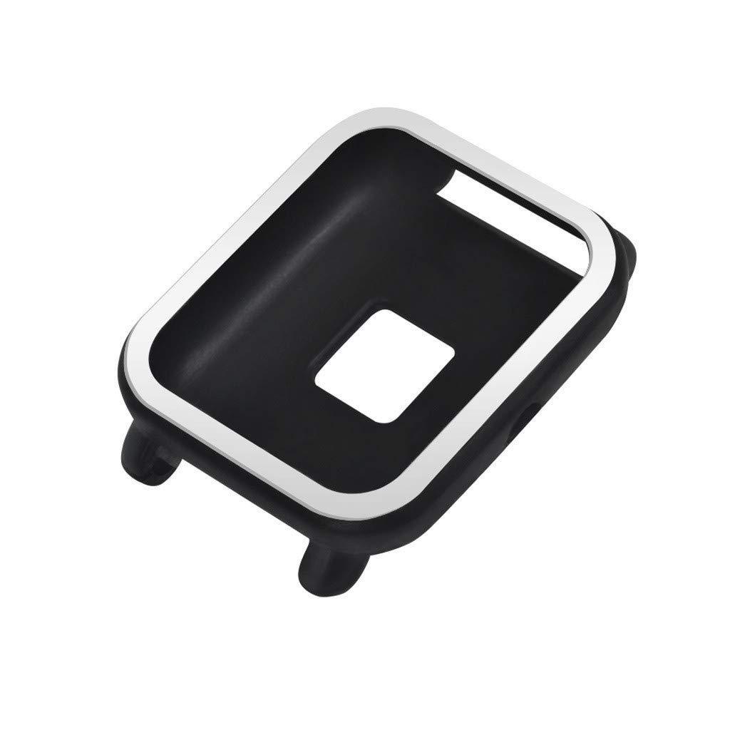 Силиконовый чехол BeWatch для Xiaomi Amazfit BIP Черно-белый (1012812)