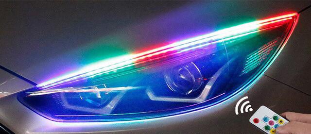 "DRL с функцией БЕГУЩЕГО поворота ""RUNNING WATER"" ( RGB + Yellow/к-кт 2x60cm)"