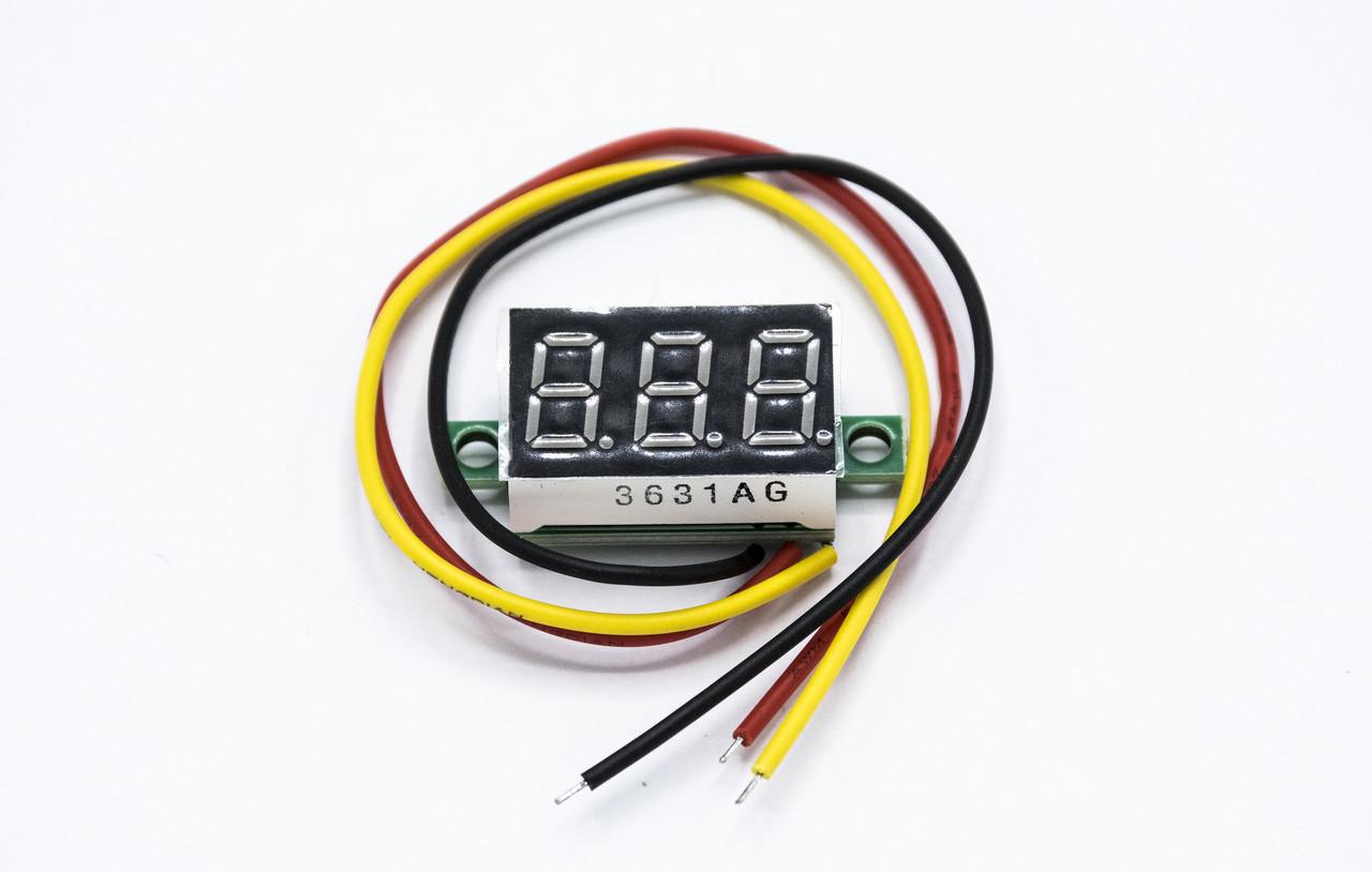 Универсальный цифровой автомобильный вольтметр индикатор напряжения DC 0-100v / синий