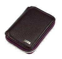 Кожаный картхолдер с отделением для купюр BUTUN 132-004-002 из натуральной кожи бордовый