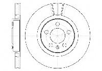 Тормозной диск передний SKODA FABIA(1999-2008г),OCTAVIA (1U2),VW GOLF IV,654610