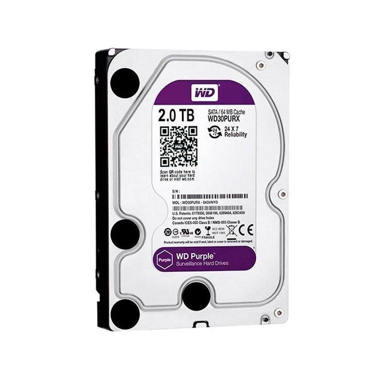 Жесткий диск HDD Western Digital Purple 2TB 64MB WD20PURZ 3.5 SATA III