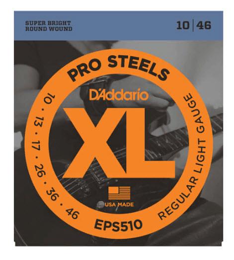 Струны для электрогитары D`ADDARIO EPS510 XL PRO STEELS REGULAR LIGHT 10-46