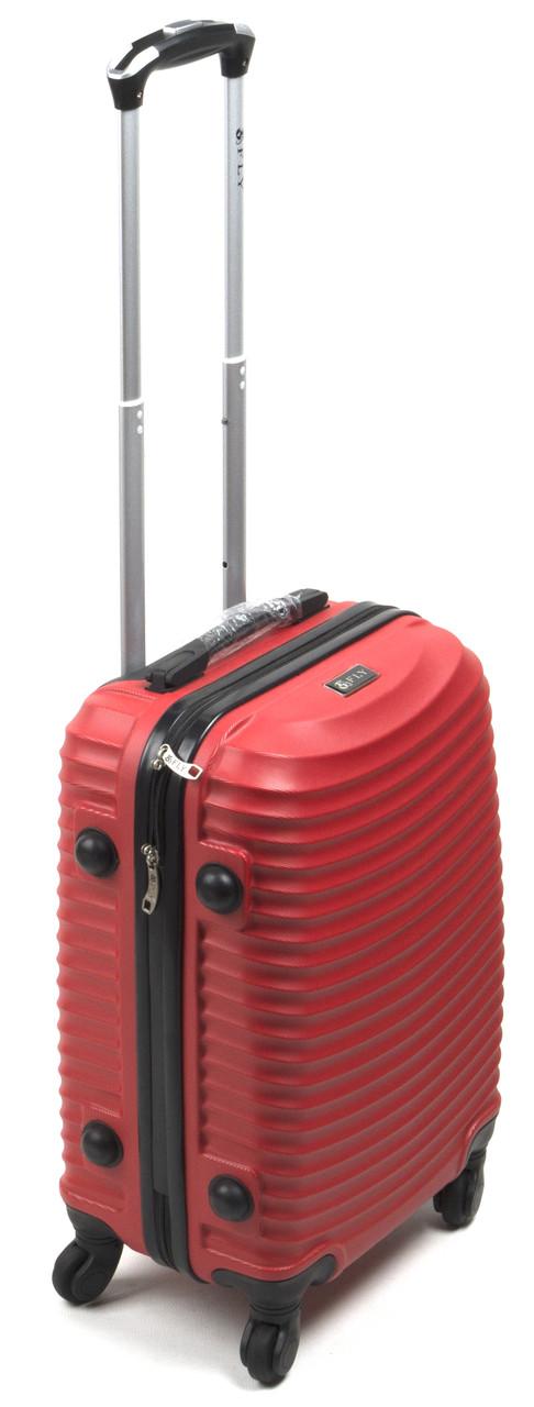 Объемный дорожный каркасный чемодан с прочного пластика WINGS  art. 1107-3