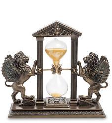 Часы настольные песочные Veronese Крылатые львы 20х18 см 1904310