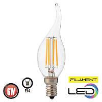 Светодиодная филаментная лампа FILAMENT FLAME 2700К 6W HOROZ