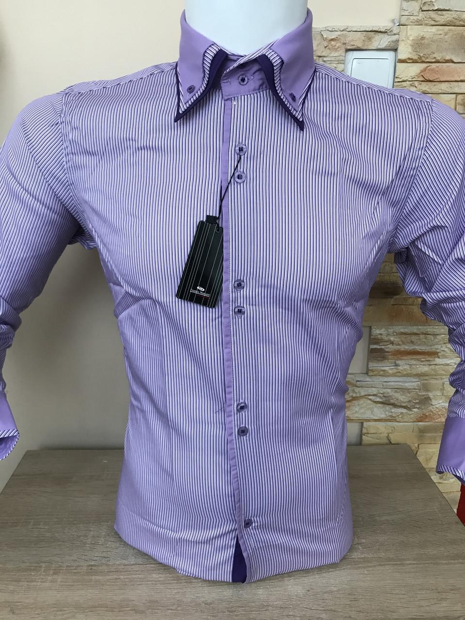Чоловіча сорочка в смужку Franko Manutti