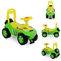 Машинка толокар для детей от 2 лет, желто-зеленая автошка