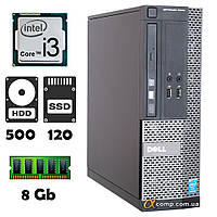 Компьютер Dell 3020 (i3-4130/8Gb/500Gb/ssd 120Gb) desktop БУ, фото 1