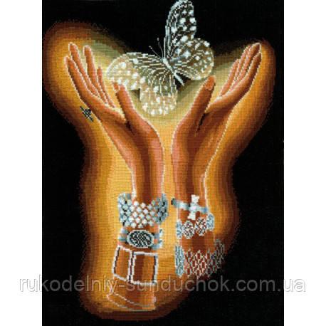 Набор для вышивки крестом Сделай Своими Руками Хрустальная бабочка Х-04