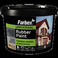 Краска резиновая Farbex Графит матовая, 6 кг