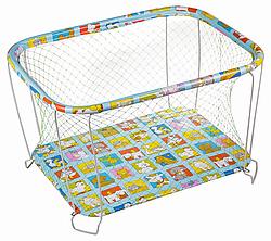 Классический детский игровой манеж Крупная и Мелкая сетка ферма
