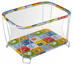 Классический детский игровой манеж Крупная и Мелкая сетка буквы