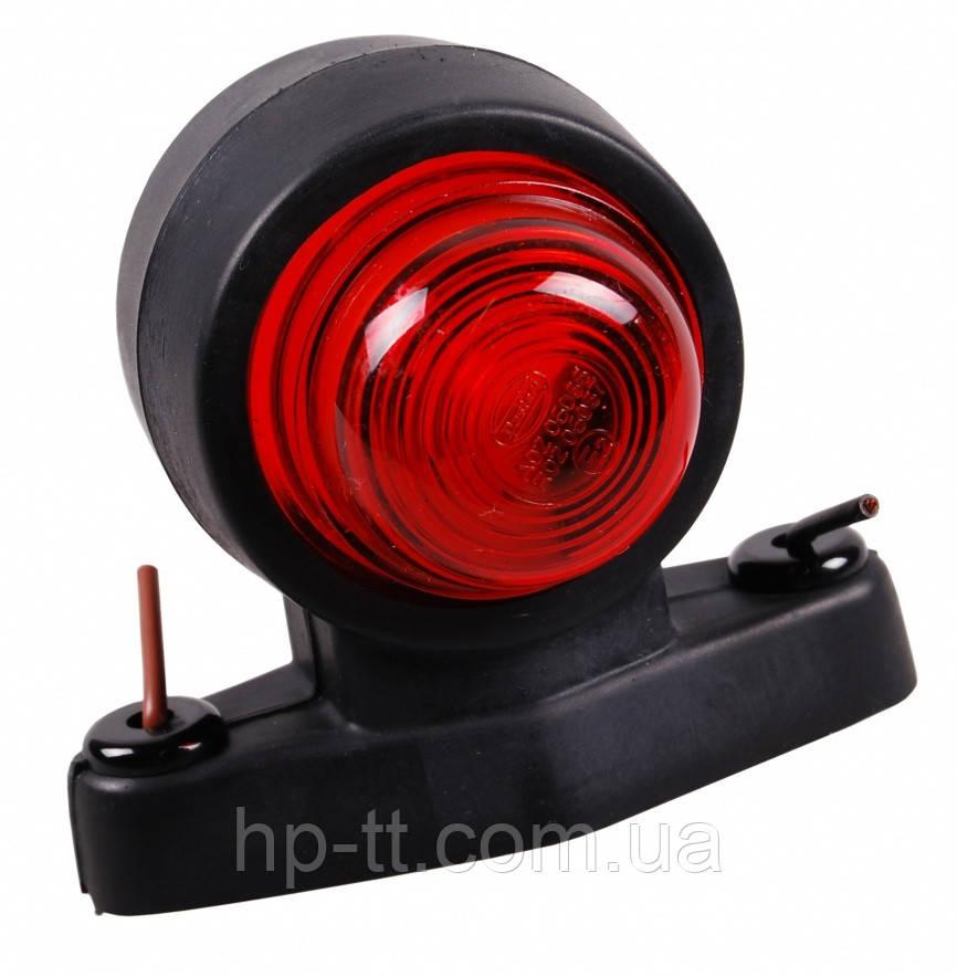Контурно-габаритный фонарь красно-белый на резиновом кронштейне (рожке) Hella 10032