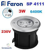 Светодиодный тротуарный светильник Feron SP4111 220V 3w 6400K, фото 1