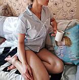 Женская хлопковая пижама в серую полосочку, фото 3
