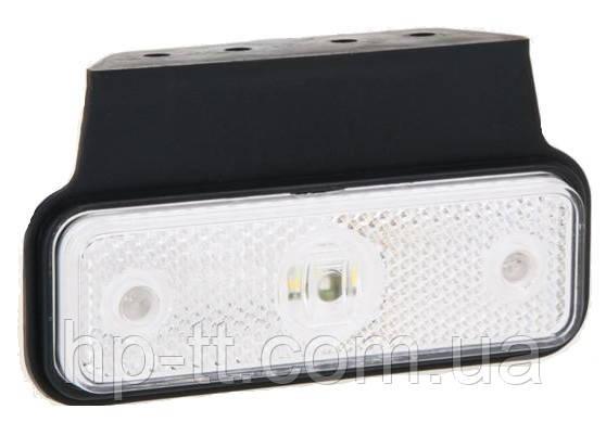 Фонарь габаритный Fristom FT-004 B+K LED белый на кронштейне с проводом