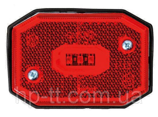 Фонарь габаритный Fristom FT-001 C LED красный со светоотражателем и проводом