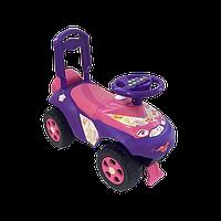Машинка толокар для девочек, фиолетово-розовая (автошка)