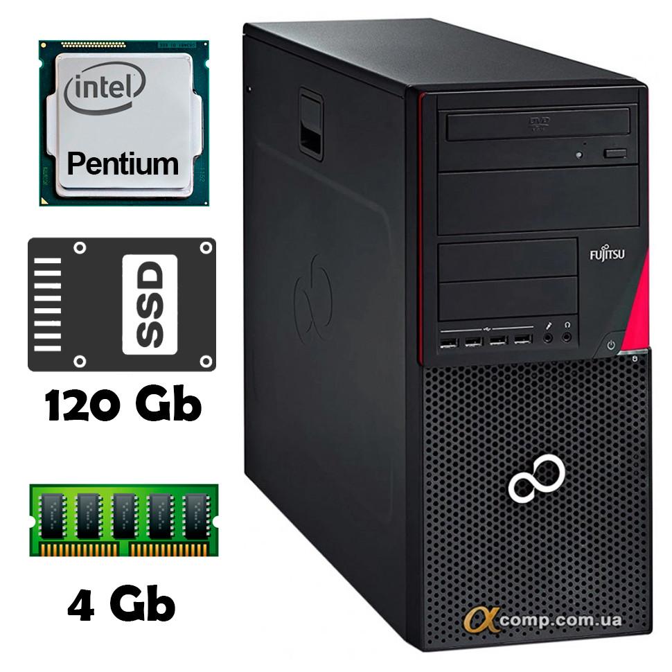 Компьютер Fujitsu P920 (Pentium G3220/4Gb/ssd 120Gb) Tower БУ•