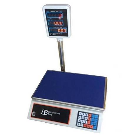 Ваги торгові електронні ВТЕ-Центровес-6Т2ДВ-Е (6 кг), фото 2