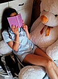Женская хлопковая пижама в голубую полосочку, фото 4