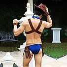 """Мужской эротический костюм ковбоя """"Меткий Вебстер"""" S/M: платок, портупея, трусы, манжеты, шляпа, фото 5"""