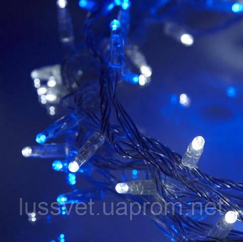 Новогодняя гирлянда бахрома на улицу GNT ICICLE 255LED 5*0,5м бело-голубая (бел. кабель)