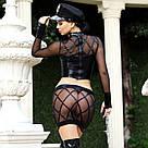 Эротический костюм полицейского Дерзкая Кристи S/M, юбка, топ, фуражка, митенки, наручники, фото 4